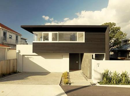 Las lineas rectas dominan la arquitectura de esta casa