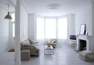 Decoraci n estilo r stico y color blanco en decoraci n de interiores - Interieur oud huis gerenoveerd ...