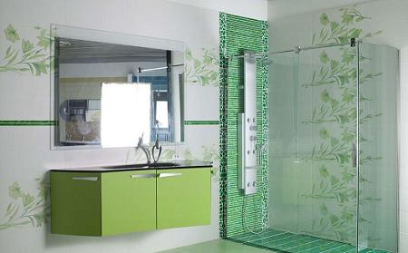 Azulejos de inspiraci n natural para tu cuarto de ba o for Azulejos relieve bano