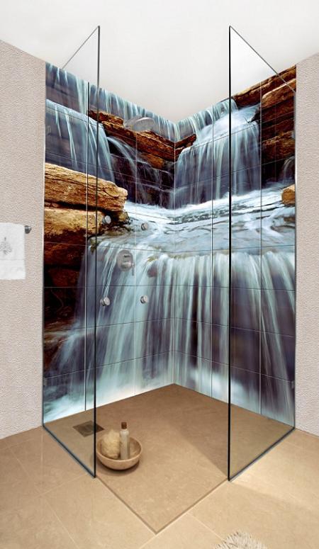 Azulejos de inspiraci n natural para tu cuarto de ba o for Ducha cascada