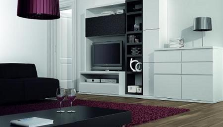 Decoraci n ideas para decorar tu salon en blanco y negro - Salones decorados en blanco ...