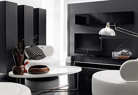Ideas para decorar tu salon en blanco y negro decoraci n for Casas decoradas en blanco y gris