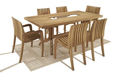 Decoraci n muebles de teca para tu jard n - Muebles de teca para jardin ...
