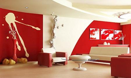 Decoraci n 10 salones en blanco y rojo - Salones decorados en blanco ...