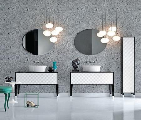 Muebles de ba o en blanco y negro decoraci n for Muebles de bano negro