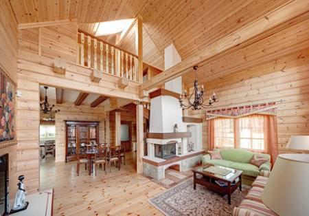 Decoraci n casa de campo con decoraci n r stica en madera - Casas de madera para campo ...