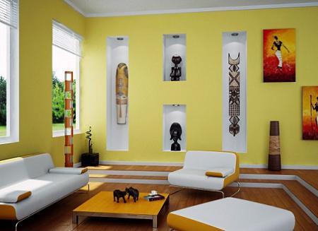10 salones en color amarillo decoraci n - Decoracion salon amarillo ...