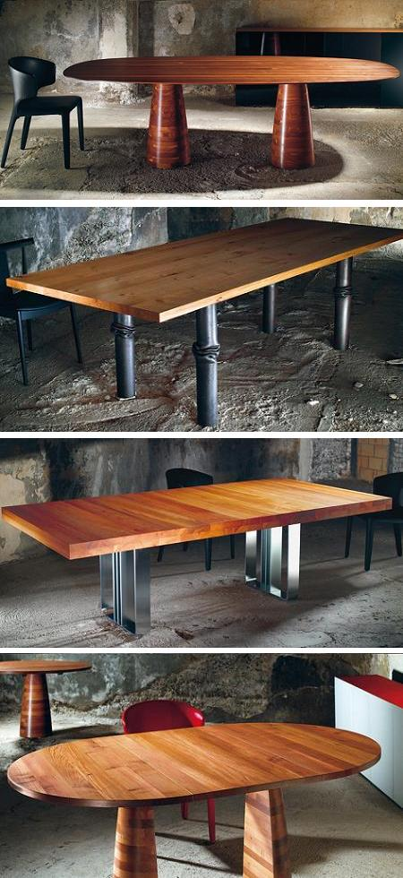 mesas de comedor de madera maciza