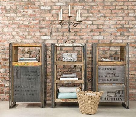 Muebles reciclados para un estilo industrial decoraci n for Muebles estilo industrial
