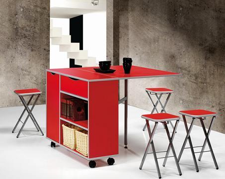 Mesas para la cocina propuestas modernas y pr cticas for Mesa cocina con ruedas