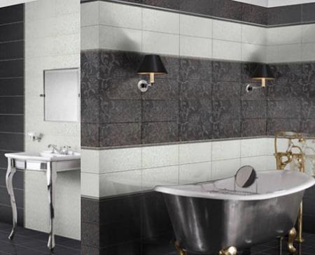 Azulejos negros para cuartos de baño