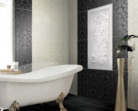 Decoraci n azulejos negros para cuartos de ba os - Decoracion banos azulejos ...