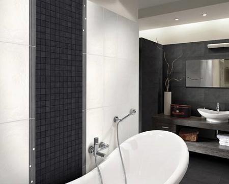 Azulejos negros para cuartos de ba os decoraci n - Azulejos cuarto de bano ...