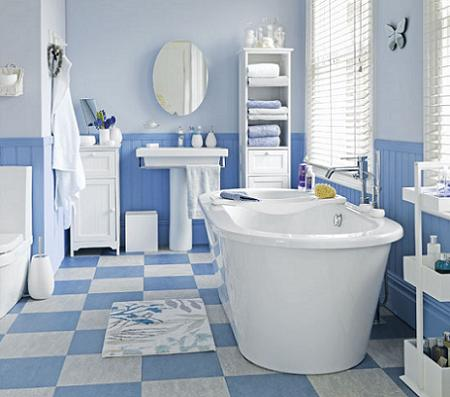 Decorar el ba o en azul decoraci n for Decorar el bano