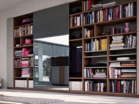Librer as de madera y cristal decoraci n - Libreria de madera ...