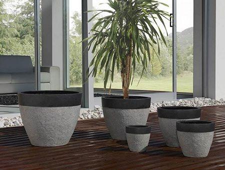 Decoraci n jardineras de piedra - Jardineras para interiores ...