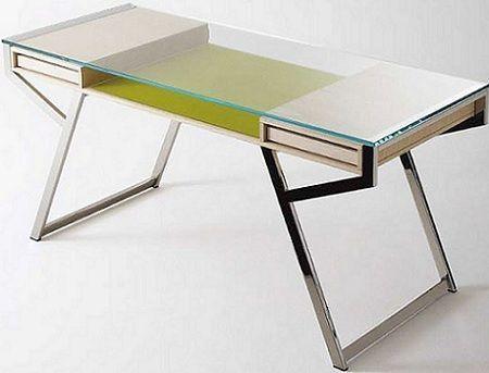 Decoraci n mesas de estudio - Mesas estudio cristal ...