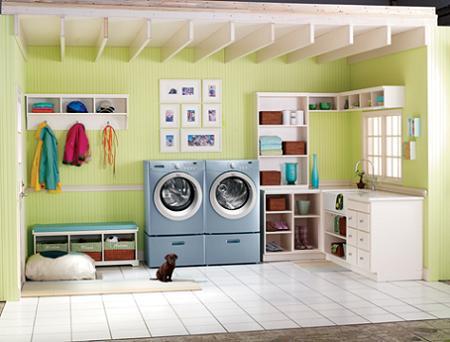 Decorar cuarto de lavado y planchado