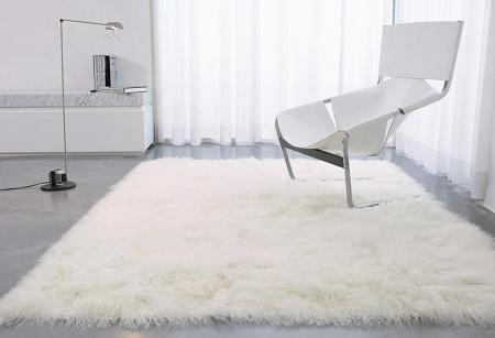 Una alfombra de pelo largo decoraci n - Alfombra redonda pelo largo ...