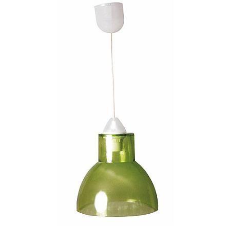 Lámpara verde de Leroy Merlin