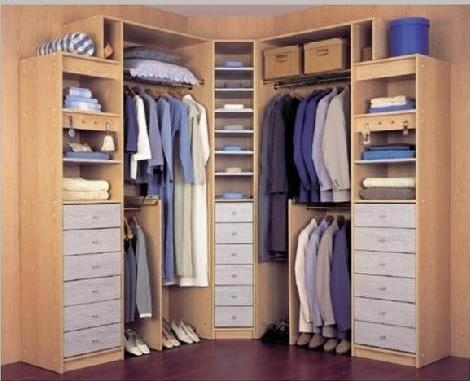 Fotos de vestidores peque os para aprovechar el espacio - Disenar un armario ...
