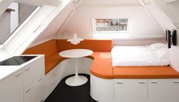 Decoraci n c mo amueblar un piso de dise o minimalista en for Pisos de 30 metros cuadrados ikea