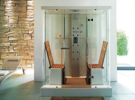 Lo ltimo en duchas de dise o un lujo para tu ba o decoraci n - Cabinas de ducha con sauna ...