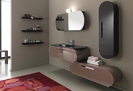 decoración muebles de baño de diseño, con curvas, flux de lasa idea - Muebles De Bano Diseno Italiano