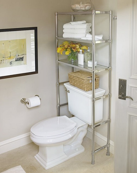 Decoracion Baño Ideas:Bathroom Shelves Over Toilet Storage Ideas