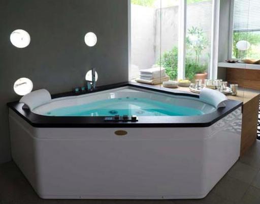 Ideas Para Decorar Un Baño Con Jacuzzi:Corner Jacuzzi Tubs