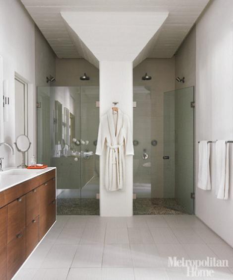 Baños Duchas Modernos:Baños modernos de ducha: o con dos duchas