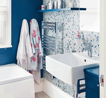 Ba os en azul decoraci n - Banos reformados antes y despues ...