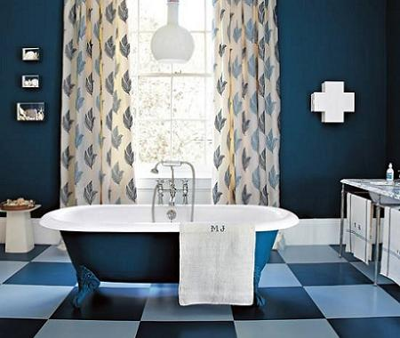 Ba os en azul decoraci n - Banos en azul y blanco ...