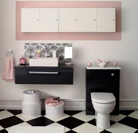 Azulejos para ba os en el lavabo decoraci n Azulejos bano blanco y gris