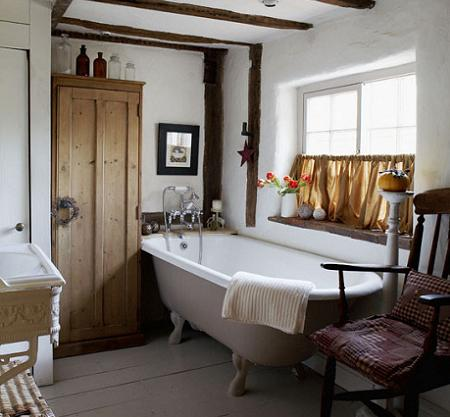 Baños rústicos