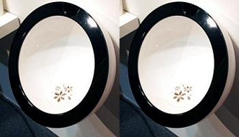 flower in the urinal