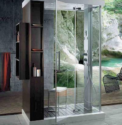 Incre ble cabina de ducha hidromasaje para un ba o de for Decoracion duchas