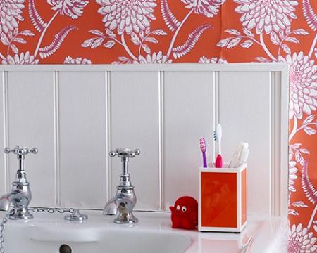 Azulejos para ba os en el lavabo decoraci n - Papel decorativo para banos ...