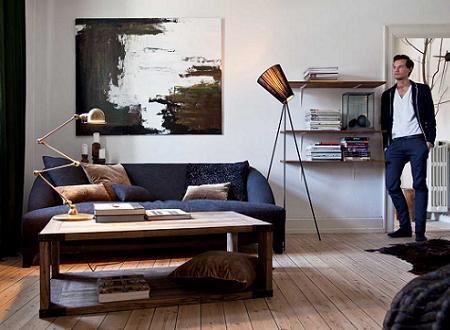 Apartamento de estilo masculino decoraci n for Departamentos decorados para hombres