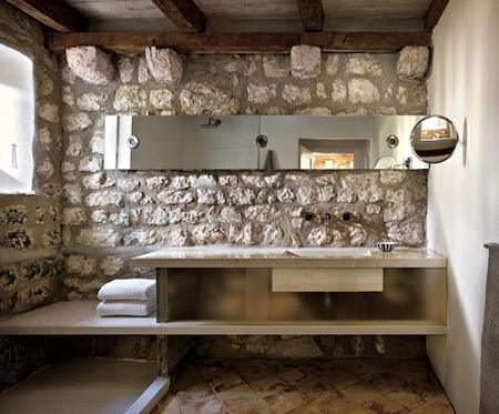 Casa de piedra decoraci n - Lavabos de piedra rusticos ...