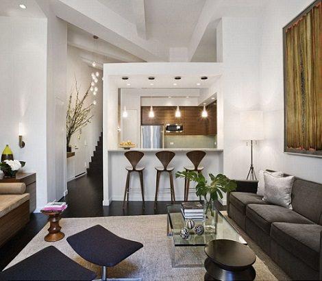 interiores de casas pequeñas bonitas salon