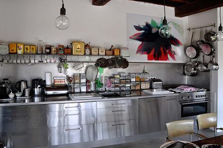 Casa de campo de estilo industrial decoraci n for Cocina decoracion industrial