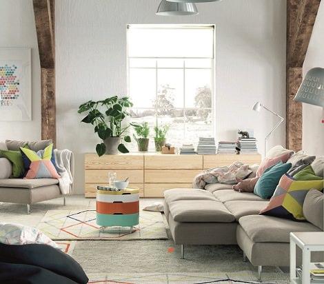 Ikea rustico morbidi plaid e cuscini rendono accogliente - Salones rusticos ikea ...