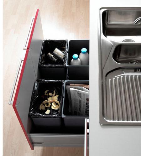 Cocinas peque as muy funcionales ideas para conseguirlo - Mueble almacenaje cocina ...