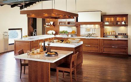 Cocinas con muebles de madera cl sicas y modernas for Cocinas clasicas