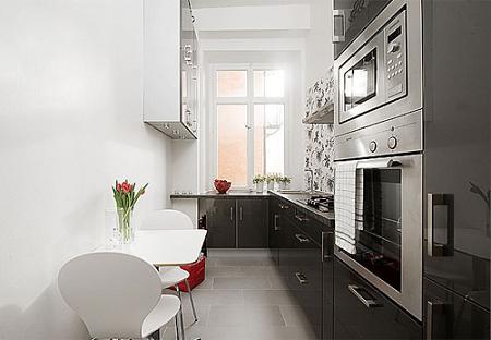 Cocina peque a y estrecha muy bonita decoraci n Cocinas muy pequenas