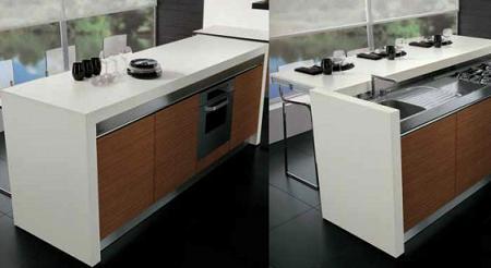 Sliding cocina completa y barra de desayunos en una isla for Barra isla para cocina