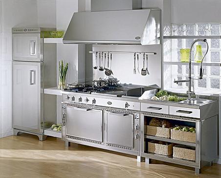 Muebles de acero inoxidable para tu cocina decoraci n - Muebles de cocina de acero inoxidable ...