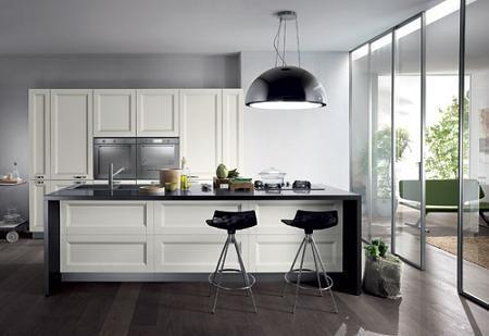 Cocinas en blanco y negro