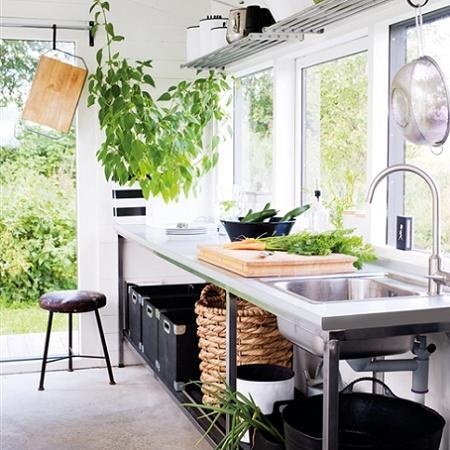 Cocinas de estilo industrial decoraci n Cocina exterior